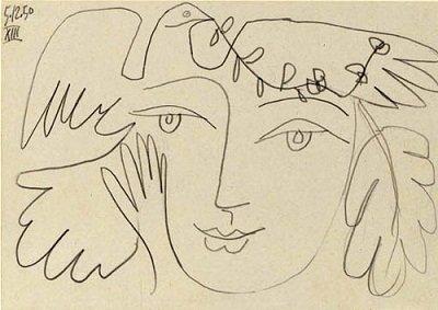 《和平鸽》 毕加索作高清图片